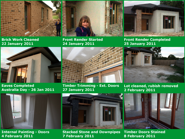 Home Build Photo Montage Number Five